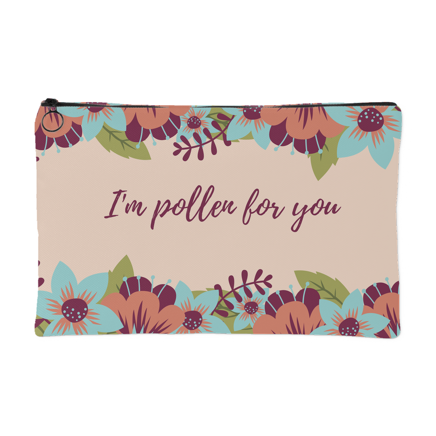 'I'm pollen for you' Love Quotes Pouch