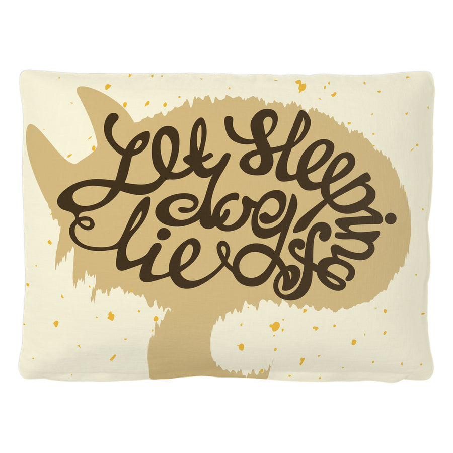 'Let Sleeping Dog Lie' Dog Quotes Brown Pet Bed