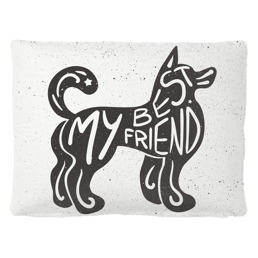 'My Best Friend' Dog Quotes Pet Bed
