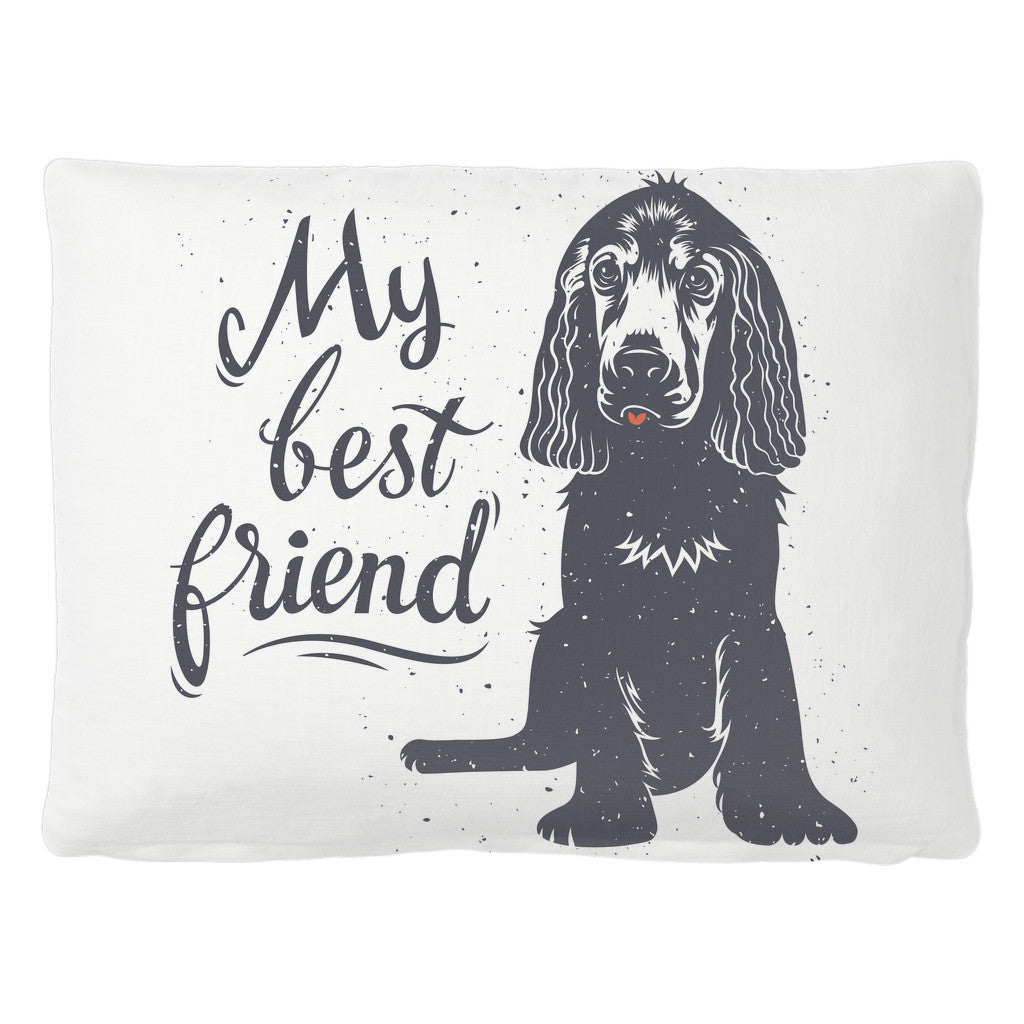 Pet Bed - 'My Best Friend' Quotes Pet Bed