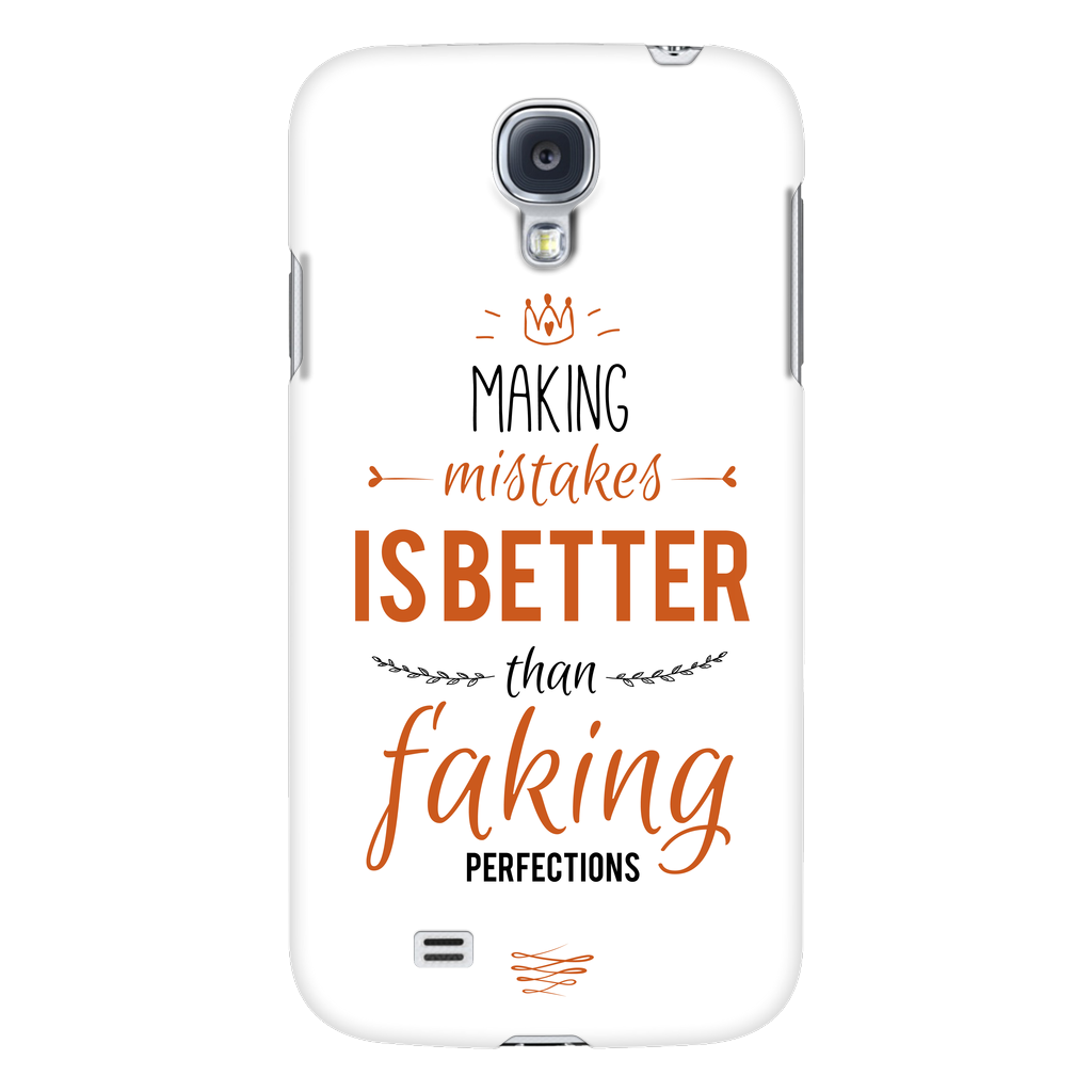 Phone Cases - 'Making Mistakes Is Better Than Faking Perfection' Motivational Quotes Phone Case
