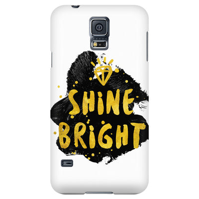 Phone Cases - 'Shine Bright' Motivational Quotes Phone Case