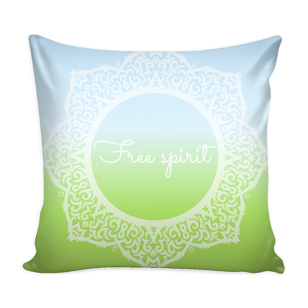Pillows - 'Free Spirit' Motivational Quotes White Pillow Cover