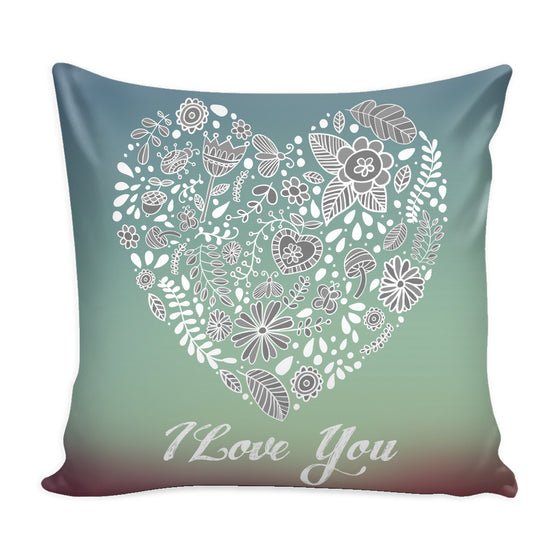 Pillows - 'I Love You' Love Quotes For Him Purple Pillow Cover