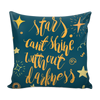 Pillows - 'Stars Can't Shine Without Darkness' Motivational Quotes Blue Green Pillow Cover