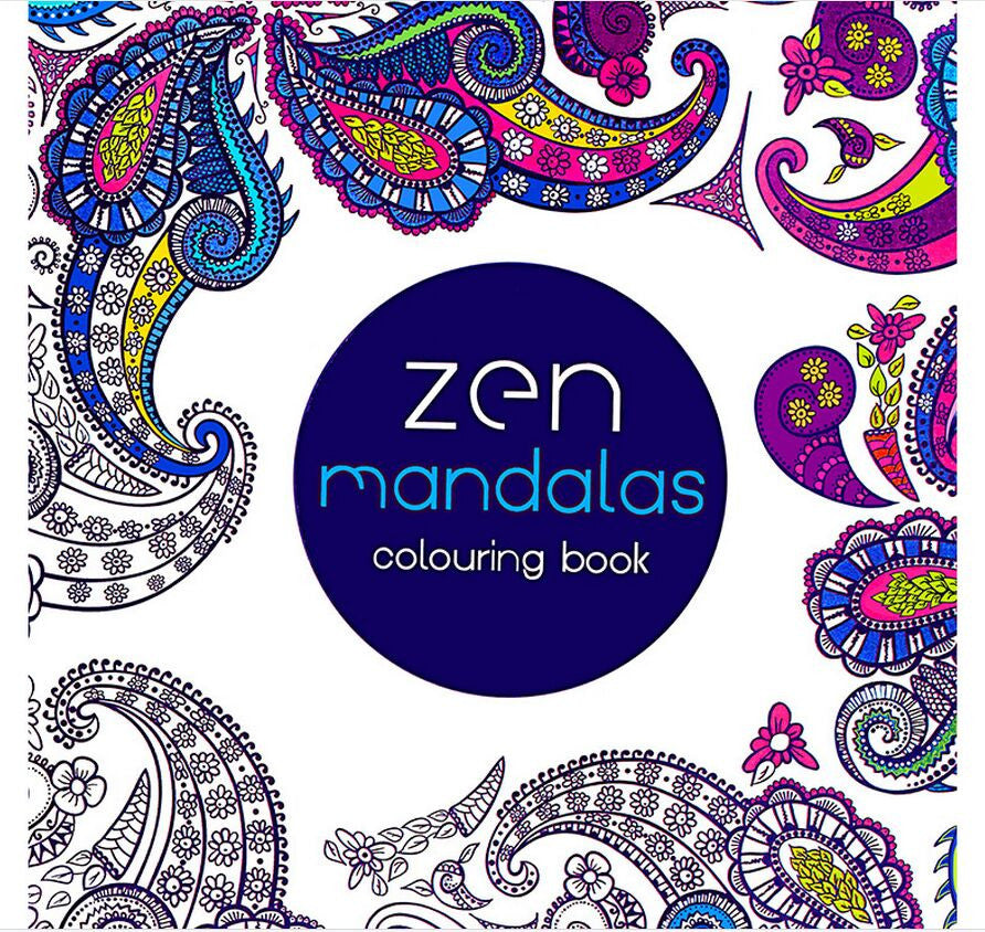 Zen Mandalas Adult Coloring Book