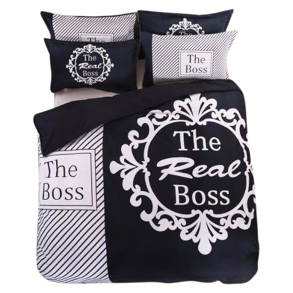 """The Boss"" And ""The Real Boss"" Couple Bedding Set [4 variants]"