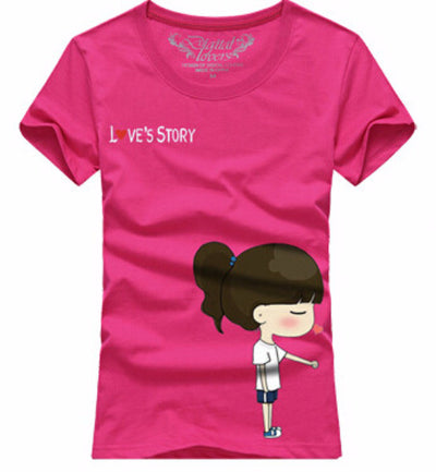 Love Story Cartoon Couple T-Shirts [8 Variants]