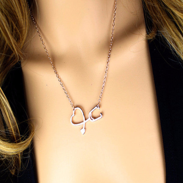 Stethoscope Charm Necklaces [4 Variants]