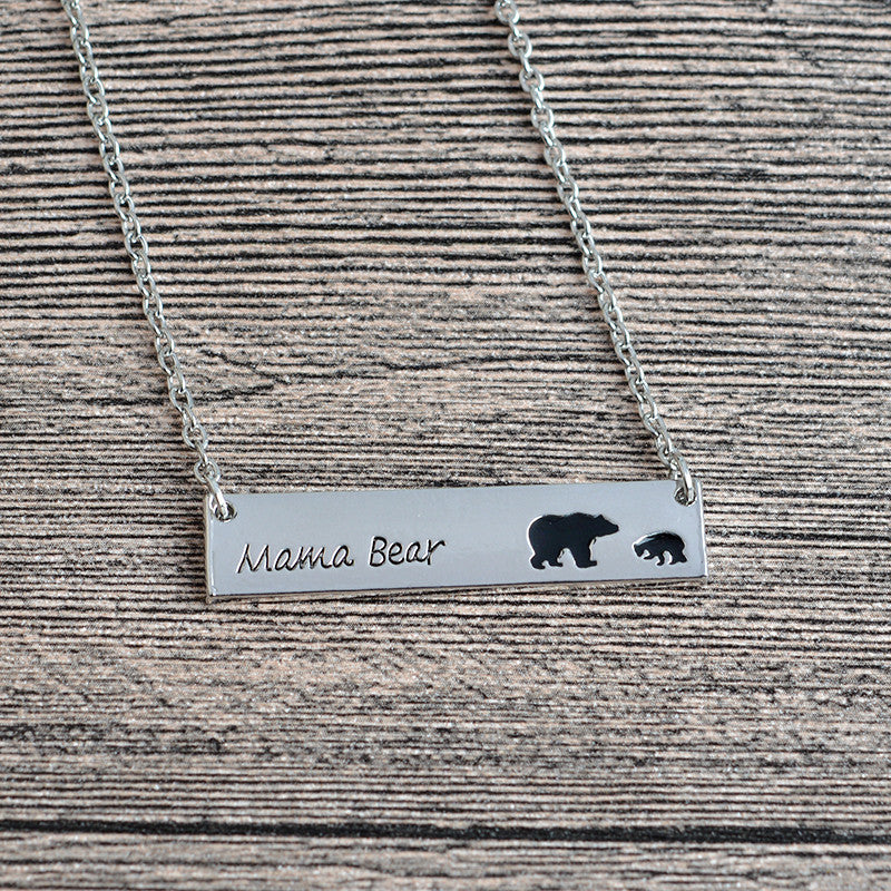 Mama Bear Tag Pendant Necklaces [6 Variants]