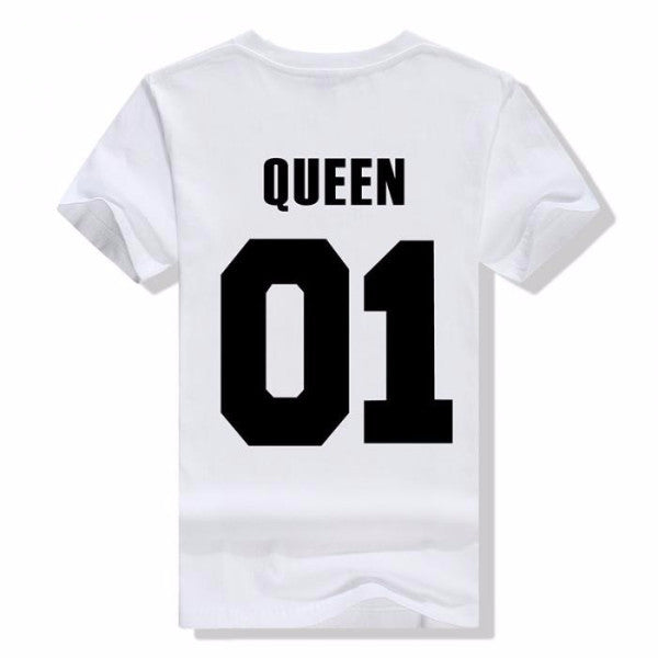 King and Queen 01 Couple T-Shirts
