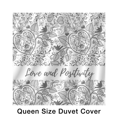 'Love and positivity' Life Quotes Bed Set [2 Variants]