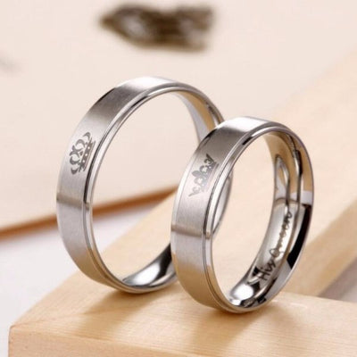 Ring - 'His Queen' And 'Her King' Couple Ring