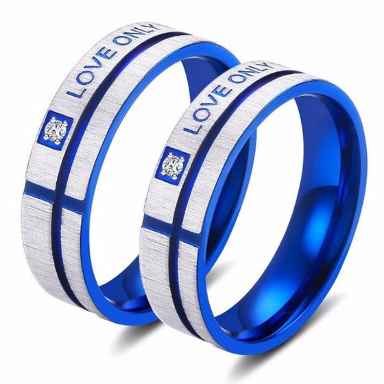 Ring - 'Love Only You' Blue Couple Ring