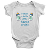 'I'll Have the Bottle of the House White' Blue Baby Onesie