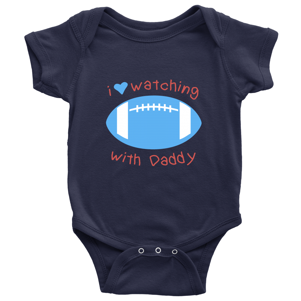 'I Love Watching Football with Daddy' Baby Boy Onesies [4 Variants]
