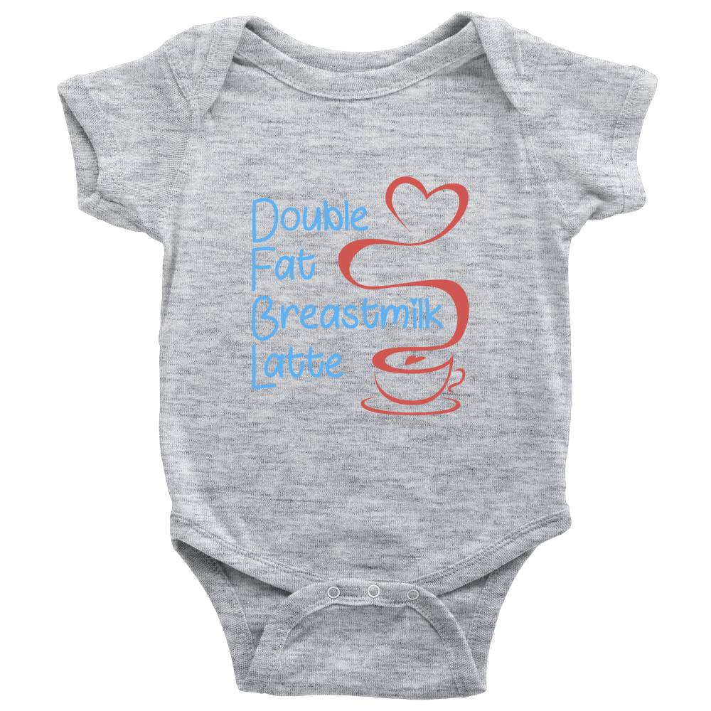 'Double Fat Breastmilk Latte' Baby Boy Bodysuit Onesies [4 Variants]