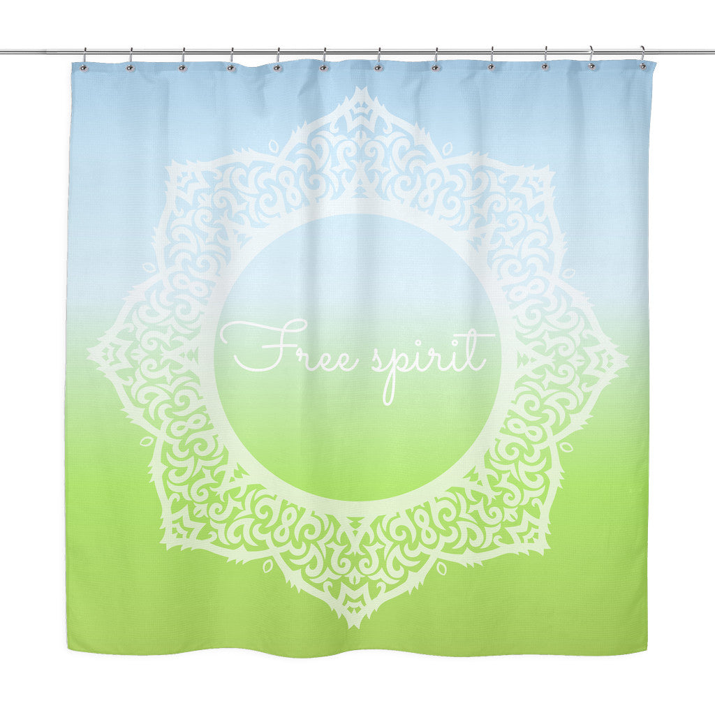 Shower Curtains - 'Free Spirit' Quote Shower Curtain