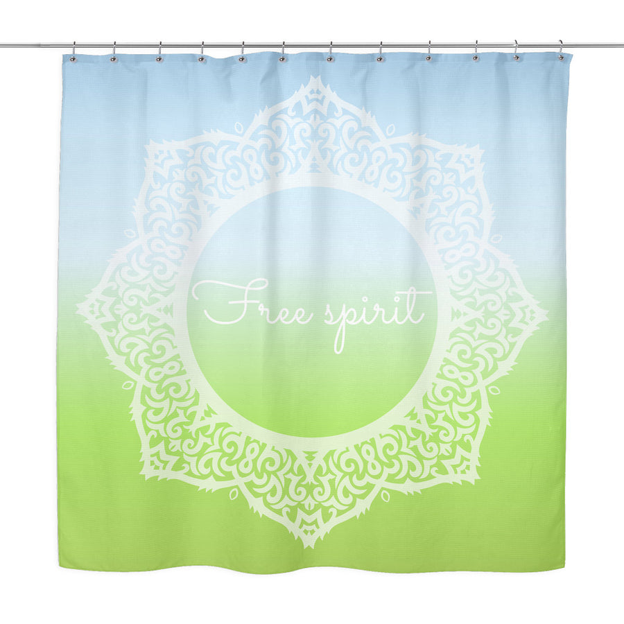 'Free Spirit' Quote Shower Curtain