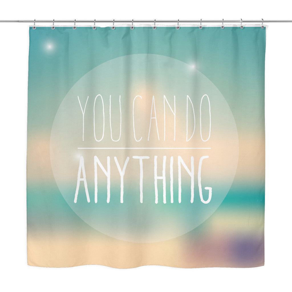 Enjoy The Little Things Motivational Quotes Colorful Shower Curtain