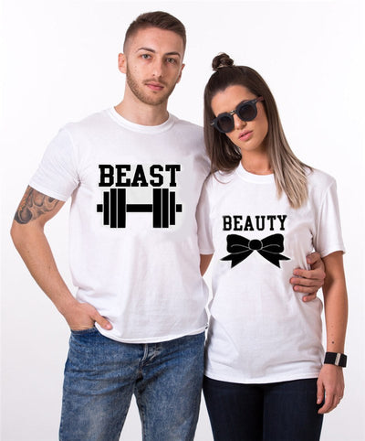 T-shirt - For Lovers Beauty And The Beast Couple T-shirts