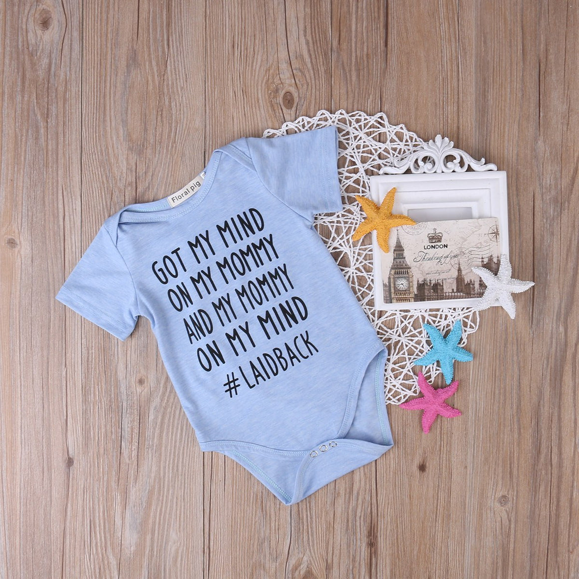 T-shirt - 'Got My Mind On My Mommy' Cotton Bodysuit Onesies