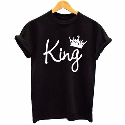 T-shirt - King And Queen Royal Couple Black T-shirt