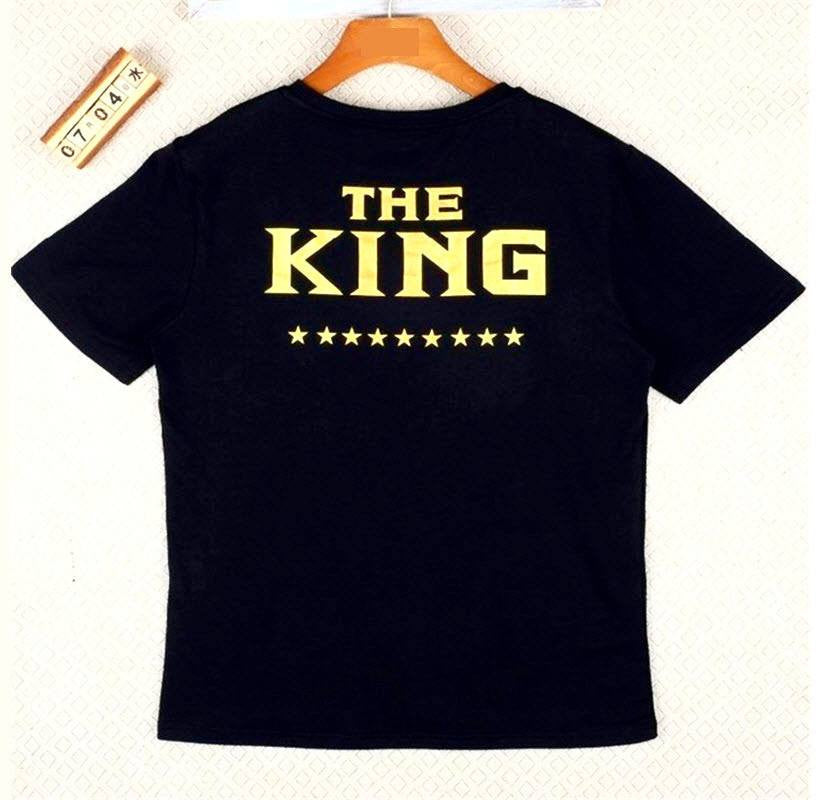 "T-shirt - Matching ""The King"" ""His Queen"" Lovers Black T-Shirt"