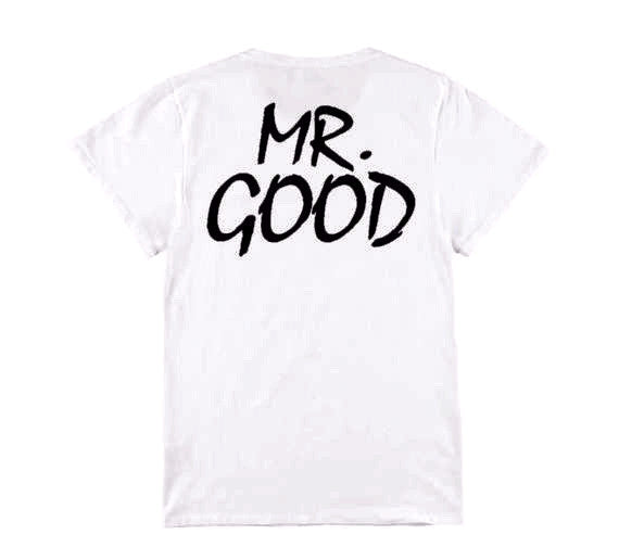 """Mr. Good"" and ""Mrs. Life"" Funny Couple T-shirt"