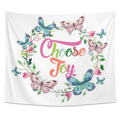 Tapestries - Choose Joy Beautiful Smile Quotes Tapestry