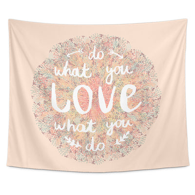 Tapestries - 'Do What You Love, Love What You Do' Motivational Quotes Tapestry