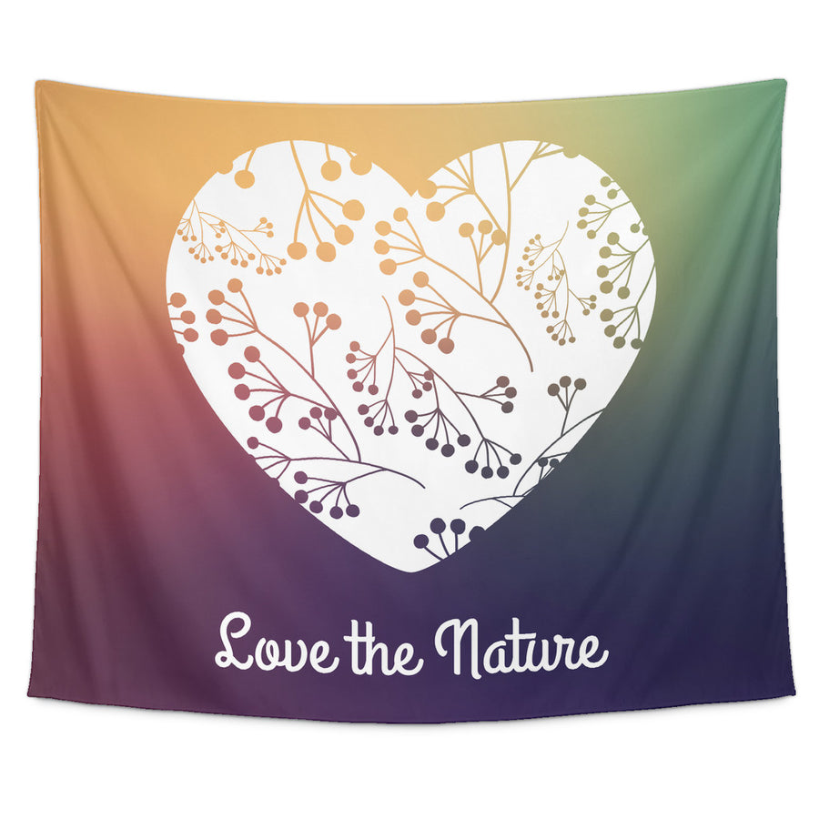 'Love the Nature' Quote Tapestry