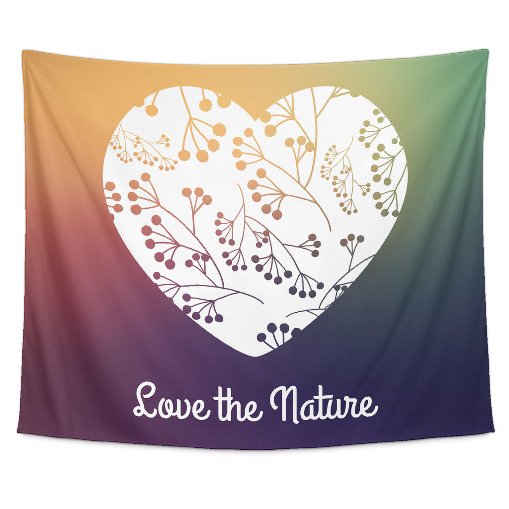 Tapestries - 'Love The Nature' Quote Tapestry