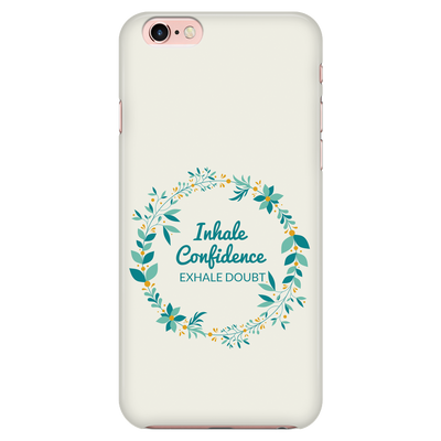 'Inhale confidence, exhale doubt' Love Yourself Quotes iPhone Case