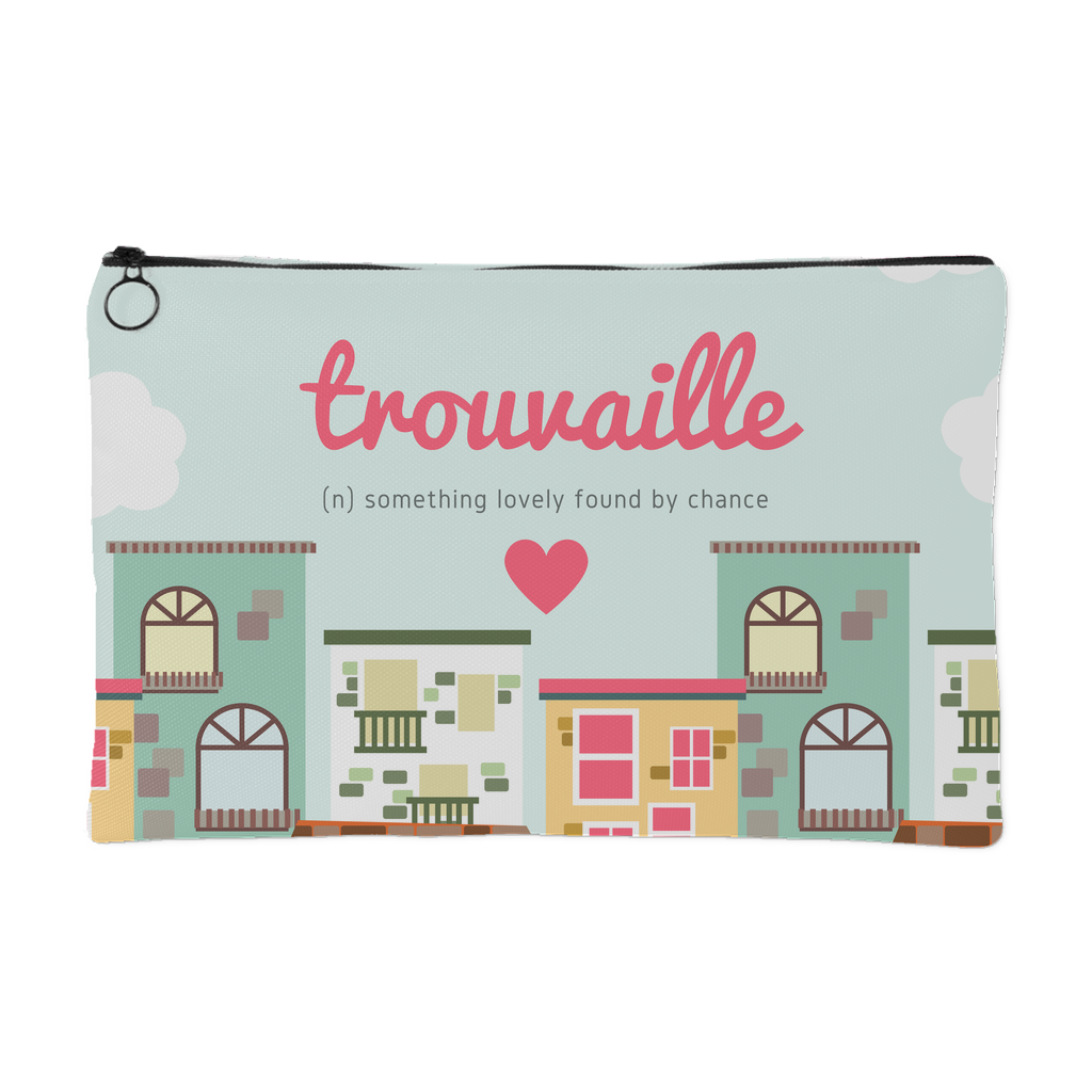 \'Trouvaille, something lovely found by chance\' Love Quotes Pouch