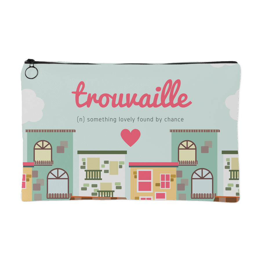'Trouvaille, something lovely found by chance' Love Quotes Pouch [2 Variants]