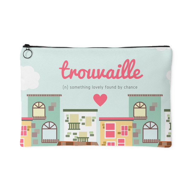 'Trouvaille, something lovely found by chance' Love Quotes Pouch