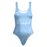 'Be your own kind of beautiful' Love Yourself Quotes One-piece Summer Swimsuit