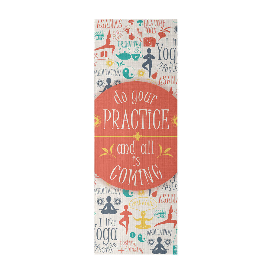 'Do Your Practice and All is Coming' Quotes Yoga Mat