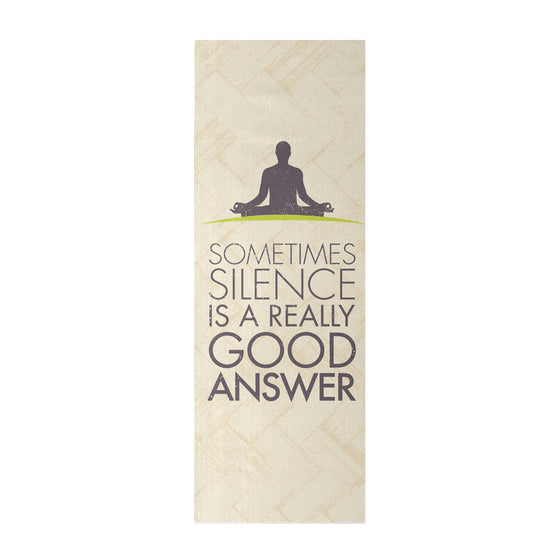 Yoga Mat - 'Sometimes, Silence Is A Really Good Answer' Quotes Yoga Mat