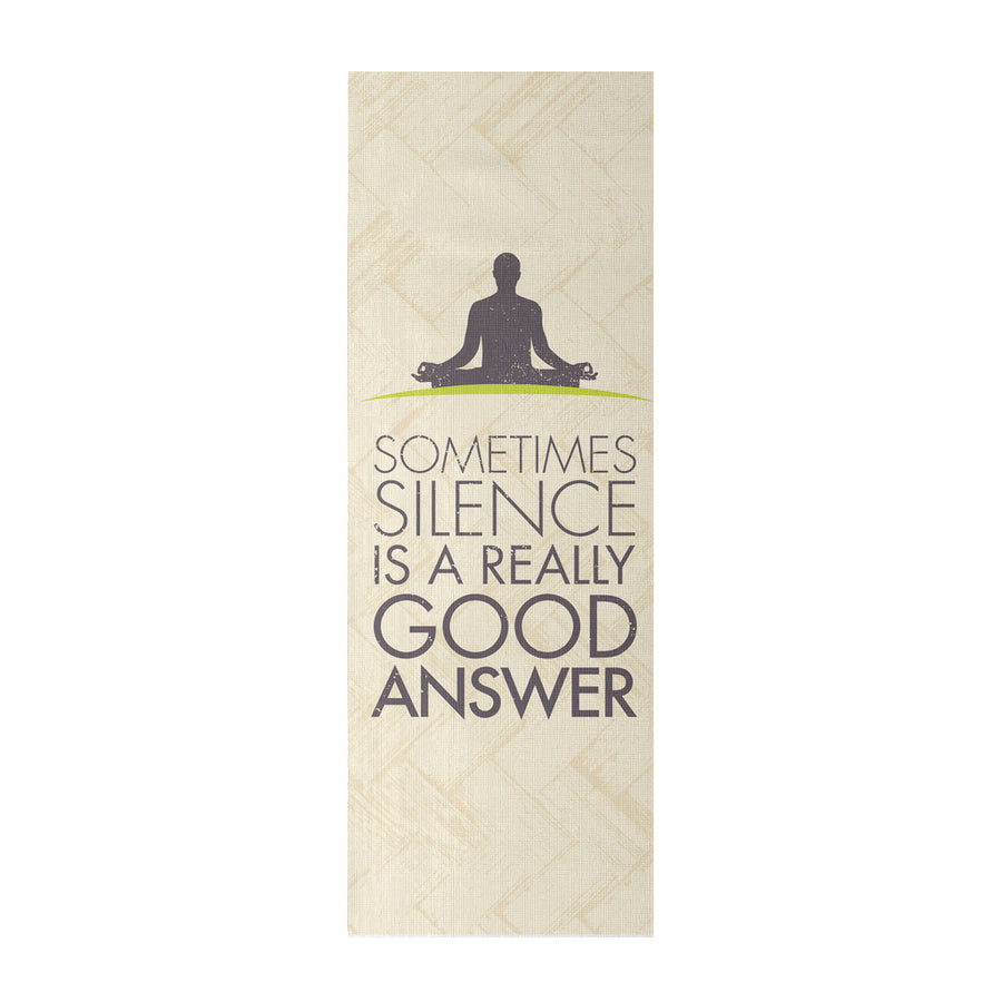 'Sometimes, Silence is a Really Good Answer' Quotes Yoga Mat