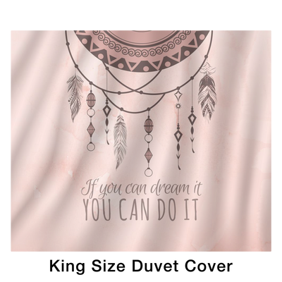 'If you can dream it, you can do it' Inspirational Life Quotes Bed Set