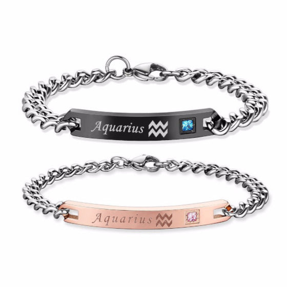 Zodiac Sign Matching Couple Bracelets [12 Variations]