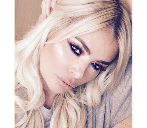 Chloe Sims wearing Tatti Lashes 3D luxury mink lashes #TL4