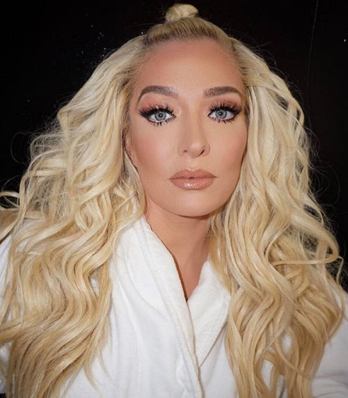 Erika Jayne from Real Housewives of Beverley Hills wearing Tatti Lashes 3D luxury mink lashes #TL3