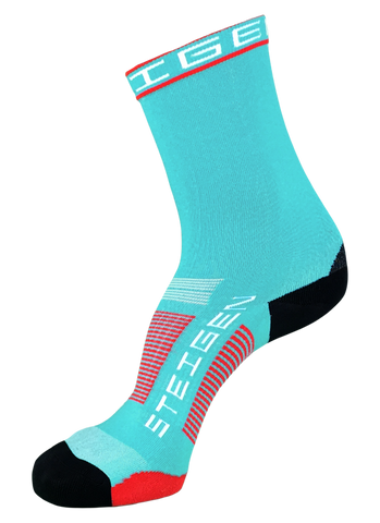 Steigen 3/4 Length Aqua Blue Socks