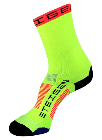 Steigen 3/4 Length Fluoro Yellow Socks
