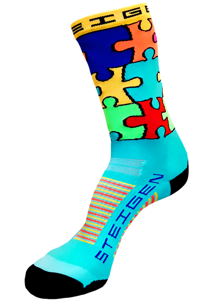Steigen 3/4 Jigsaw Multicolour Socks