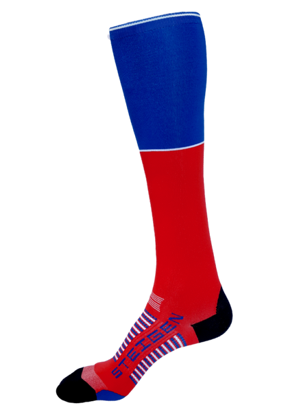 Steigen Full Length Blue/Red Socks