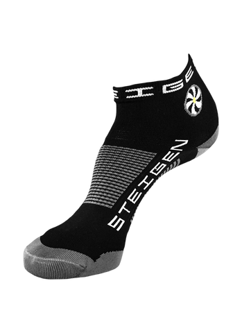 Steigen 1/4 Length Black Socks
